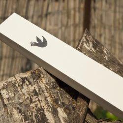 בית מזוזה עץ לבן – יונה MNW04